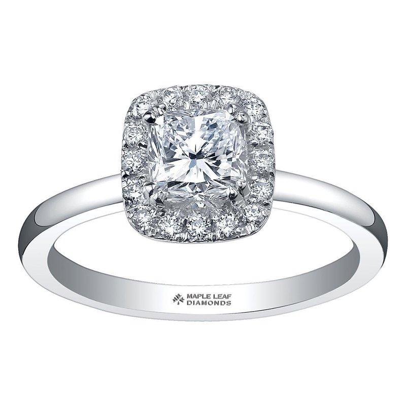 Ashley .65 Carat  Cushion Cut Halo 14kt Engagement Ring