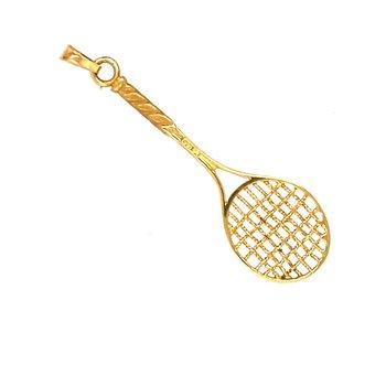 Yellow Gold Racquet Charm