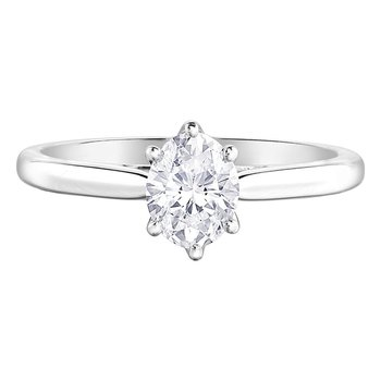 .75 Carat Oval Cut Diamond Solitaire Ring