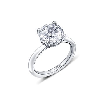2.20 Carat Solitaire Ring with Accent Diamonds