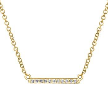Diamond Set Bar Necklace