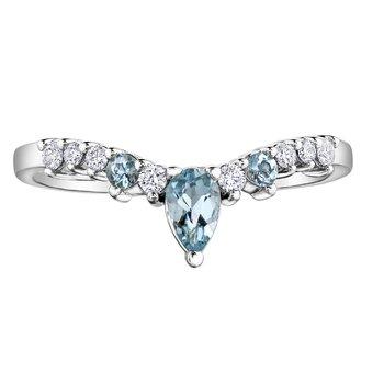 Aquamarine & diamond ring.