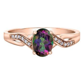 Mystic Topaz & Diamond Ring