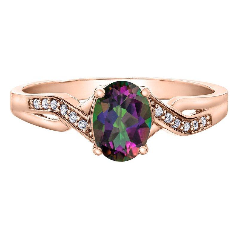 Ashley Mystic Topaz & Diamond Ring