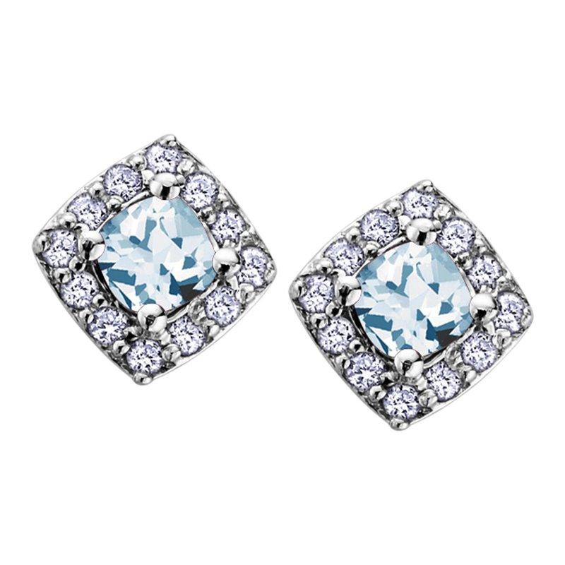 Ashley Aquamarine Stud Earrings