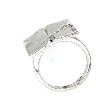 Silver & White Sapphire Ring