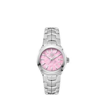 Link 32mm pink MOP dial, bracelet