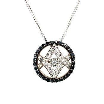 Treated Black Diamond Necklace