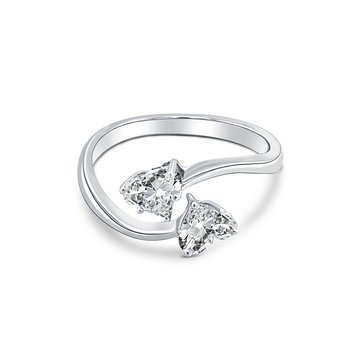 Double Heart Ladies Engagement Ring
