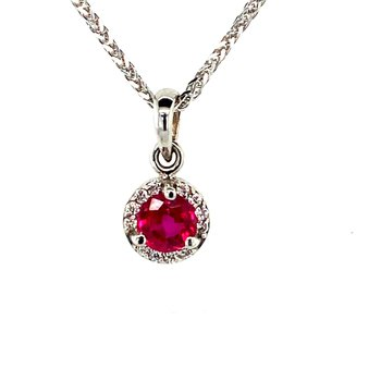 Ruby and Diamond Necklance