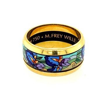 M. Frey Enamelled Ring