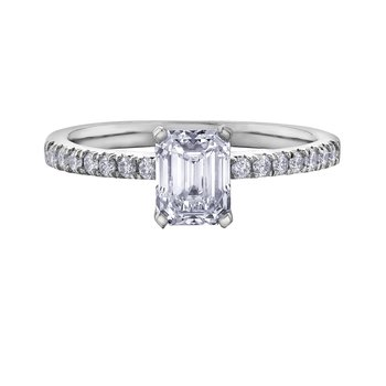 Canadian Mined Centre Diamond Engagement Ring