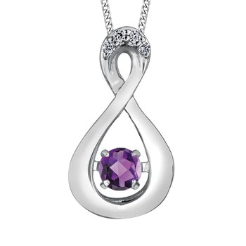 Amethyst & Diamond Pulse Necklace