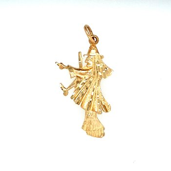 Yellow Gold Witch Charm