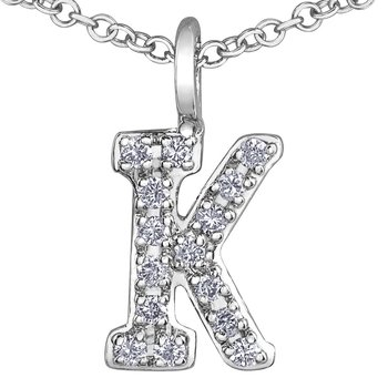 Initial K Necklace