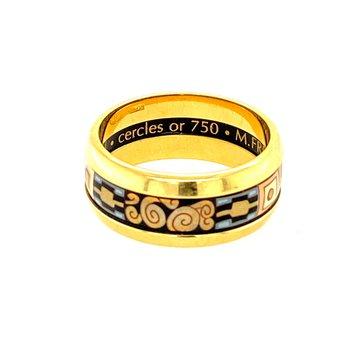 M. Frey Enamel Ring