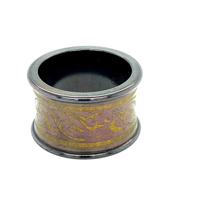 Ashley Men's Black Titanium Ring