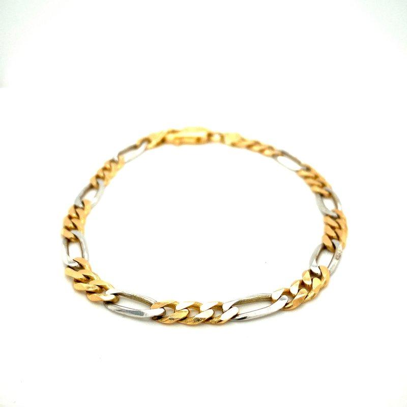 Ashley Men's Two Tone Bracelet