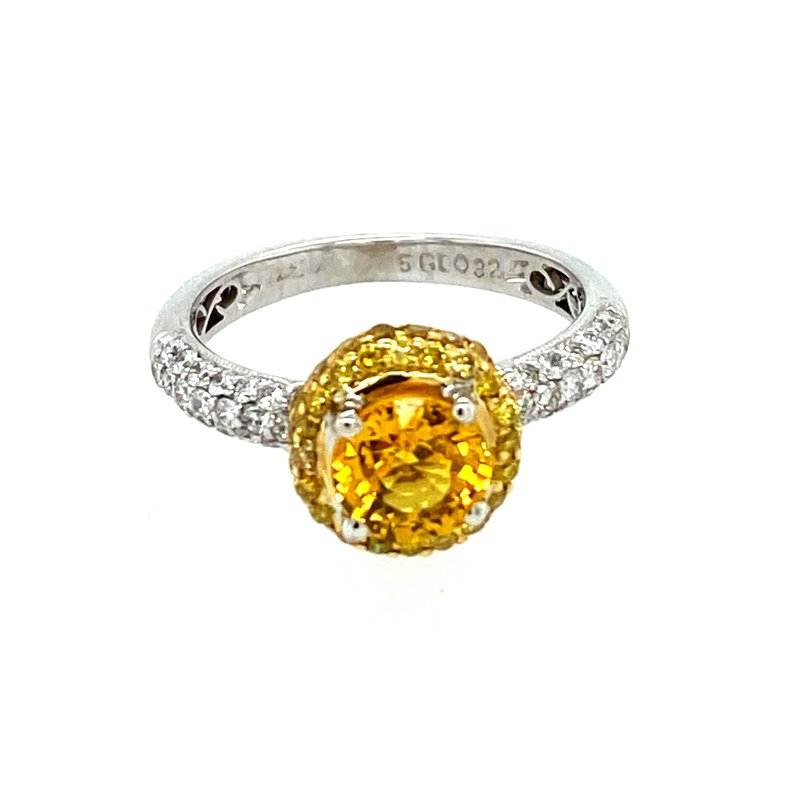 Ashley Ladies Yellow Sapphire & Diamond Ring