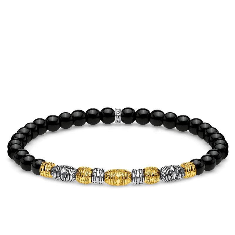 Thomas Sabo Black Beaded Bracelet