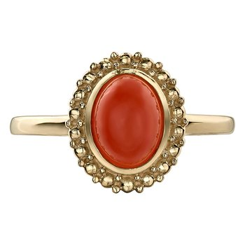 Orange Moonstone Ring