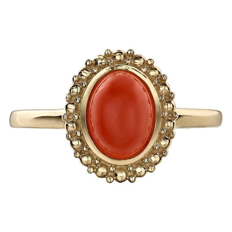 Ashley Orange Moonstone Ring