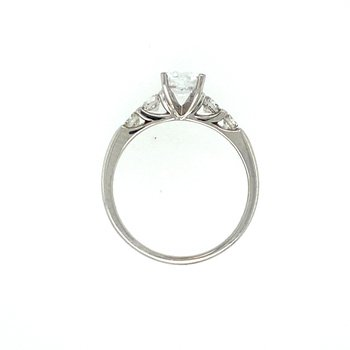 Accent Diamond Semi-Mount Engagement Ring