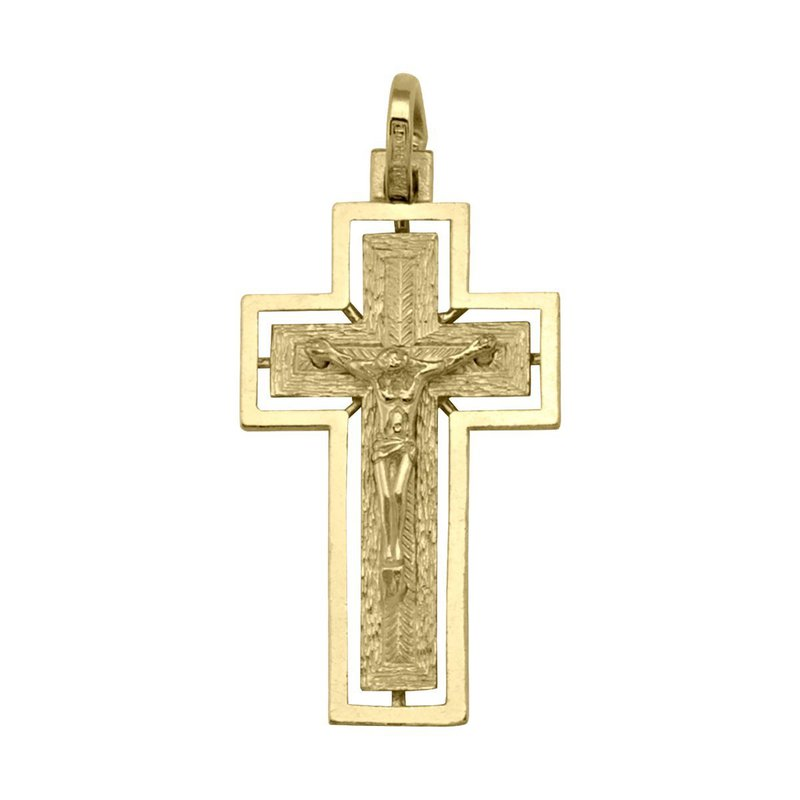 Ashley Yellow Gold Crucifix