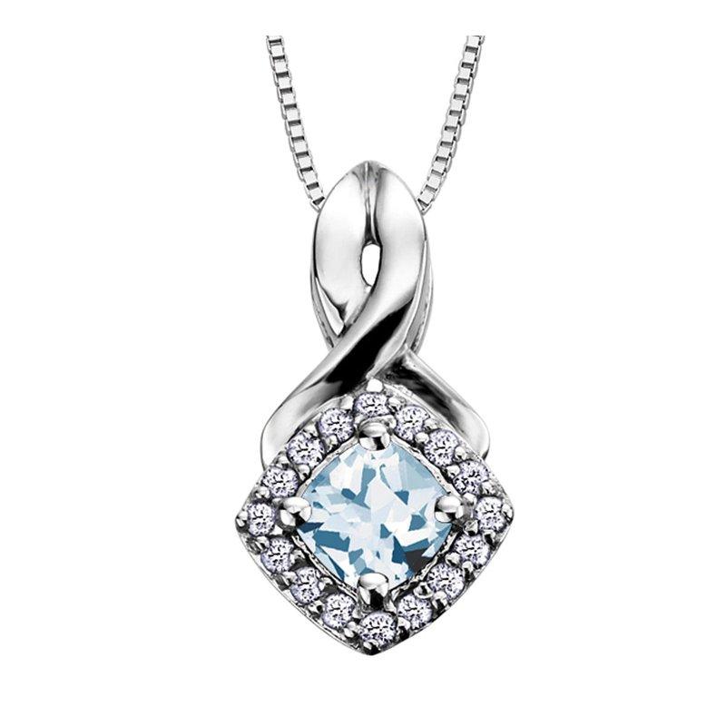 Ashley Aquamarine & Diamond Necklace
