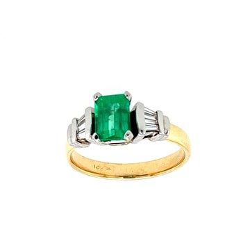 Estate Emerald & Diamond Ring