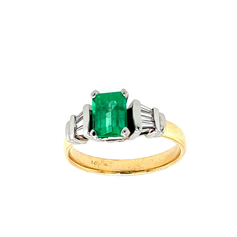 Ashley Estate Emerald & Diamond Ring