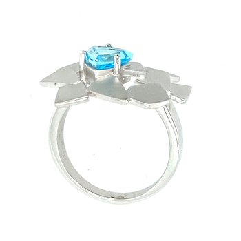 Ladies Blue Topaz Ring