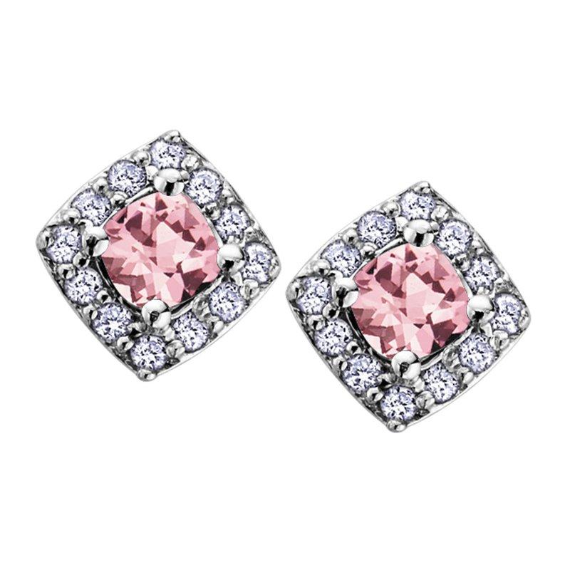 Ashley Pink Tourmaline Stud Earrings