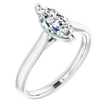 Canadian Marquise Cut Solitaire Diamond Engagement Ring
