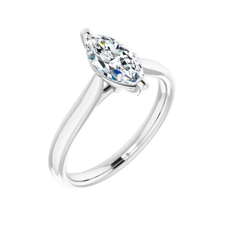 Ashley Canadian Marquise Cut Solitaire Diamond Engagement Ring