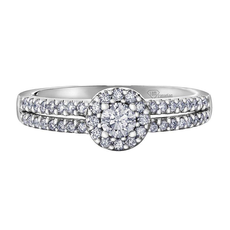 I Am Canadian Ladies Diamond Engagement Ring