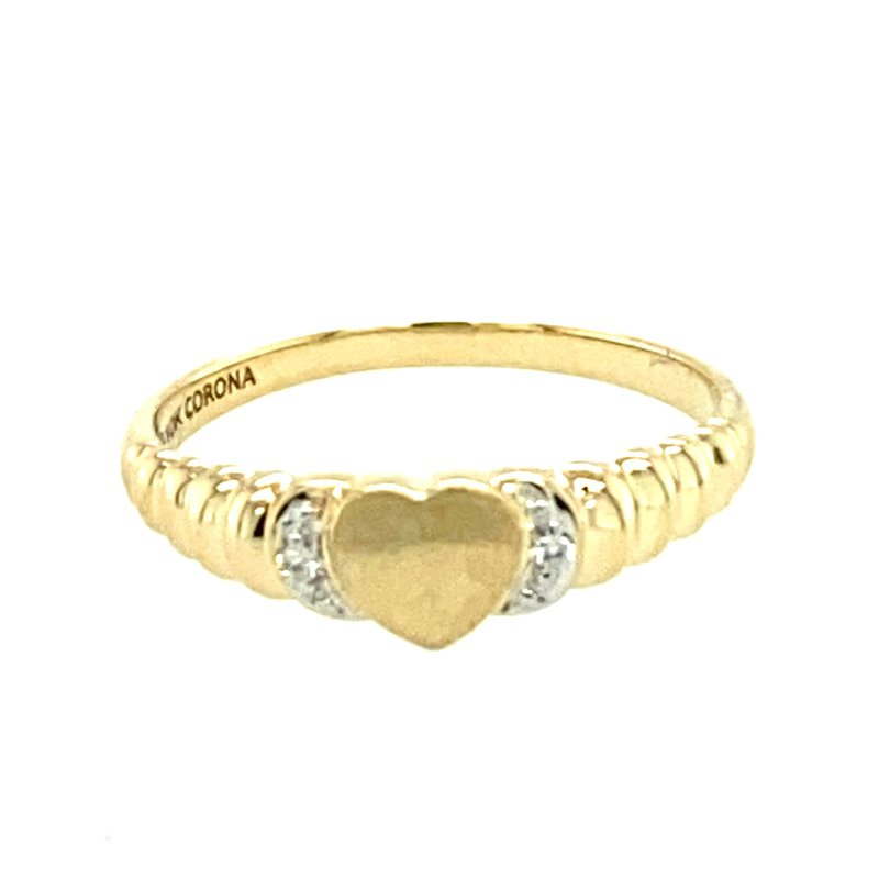 Ashley Ladies diamond set signet ring.