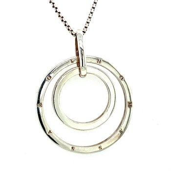 Silver Double Circle Necklace