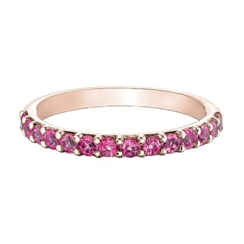 Ladies Stackable Pink Tourmaline Band