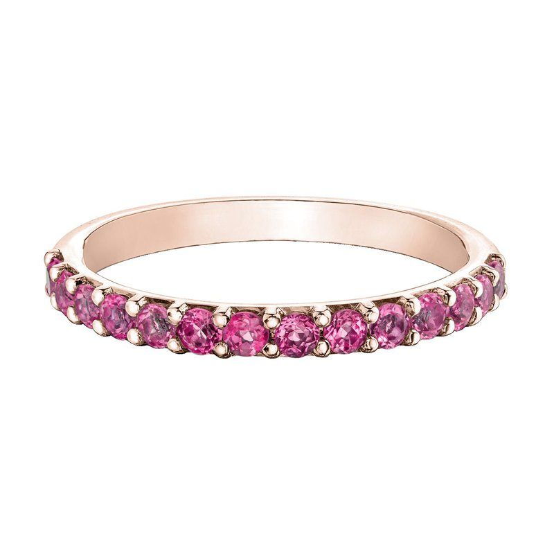 Ashley Ladies Stackable Pink Tourmaline Band