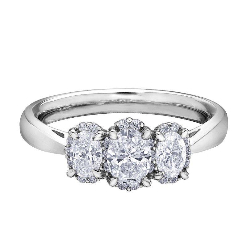 Ashley Oval Diamond Engagement Ring