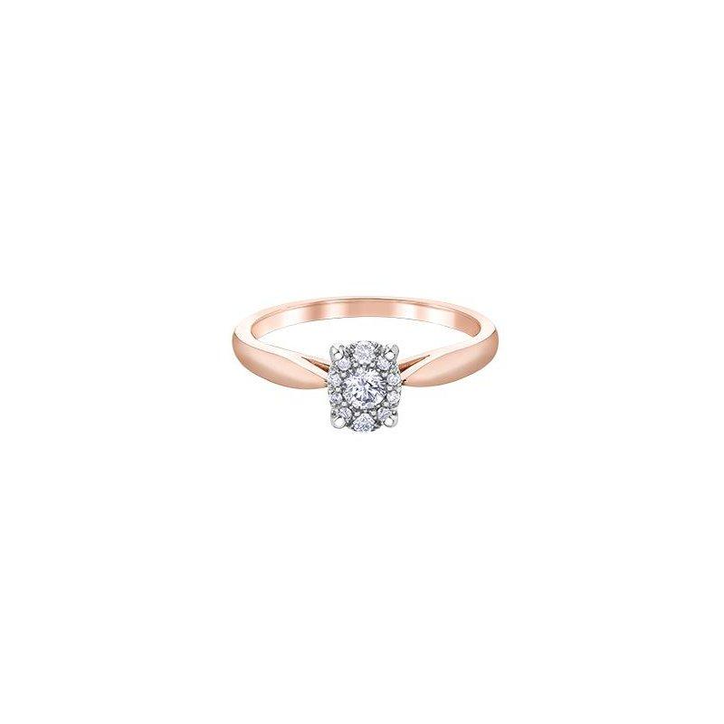 Ashley Rose Gold Diamond Engagement Ring