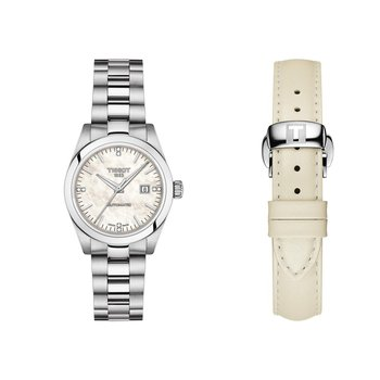 T-My Lady Automatic Mother-Of-Pearl Dial & Stainless Steel Bracelet Watch T1320071111600