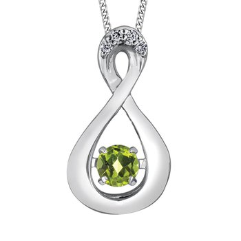 Peridot & Diamond Pulse Necklace