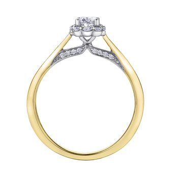 .50ct OVAL CUT HALO RING