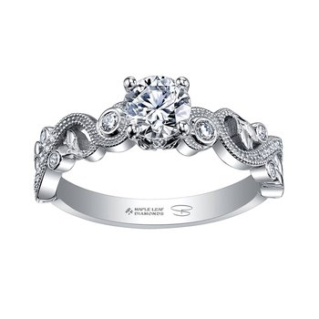 Maple Lead Diamond Engagement Ring