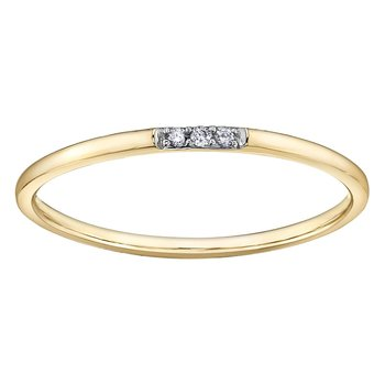 Diamond Set Stackable Ring