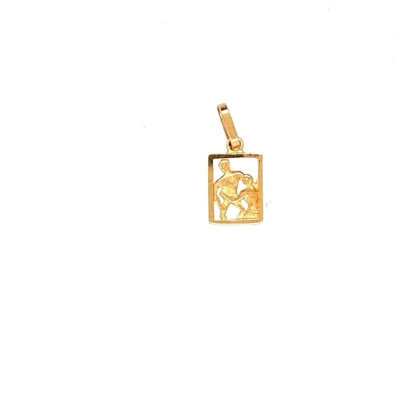 Ashley Yellow Gold Gemini Charm