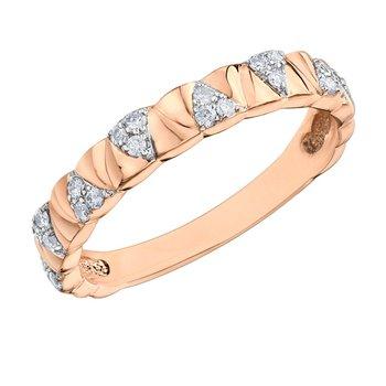 Rose Gold Diamond Set Ring
