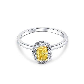 Intense Yellow Engagement Ring